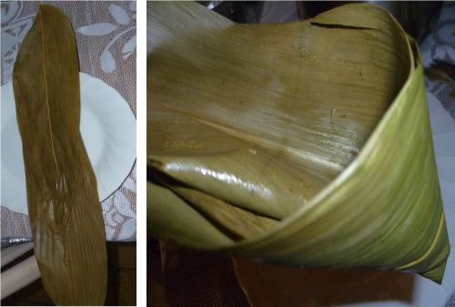 Making a Funnel from 2 pcs of bamboo leaves
